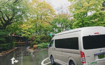 紅葉の軽井沢ロケ